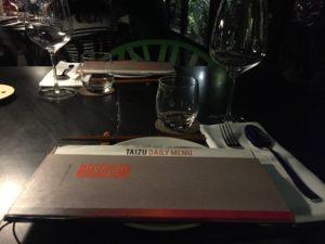 טאיזו תפריט מסעדה מסעדת שף